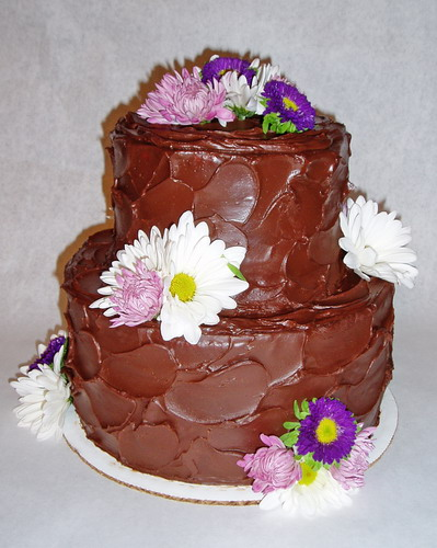 Weddings Small Chocolate Wedding Cake