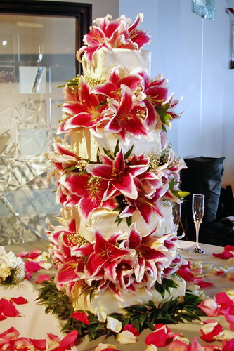 Stargazer Lily Square Wedding Cake Ada Of Course